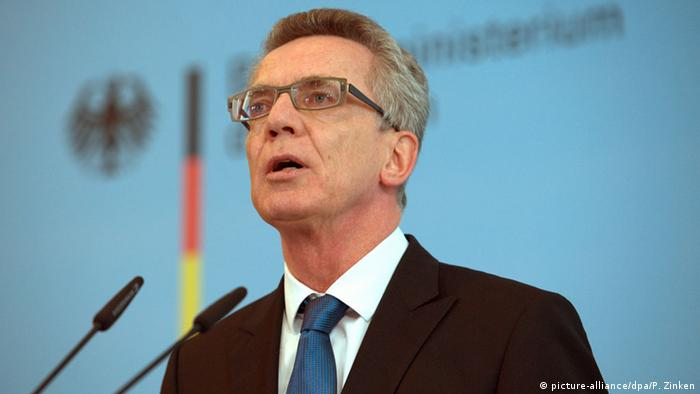 Ministrul german de Interne, Thomas de Maiziere