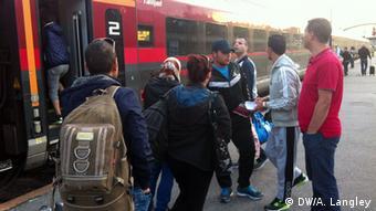 Deutschland Österreich Bahnhof Wien Flüchtlinge