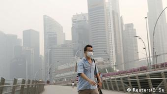 Haze in Singapore brought by Indonesia's forest fire