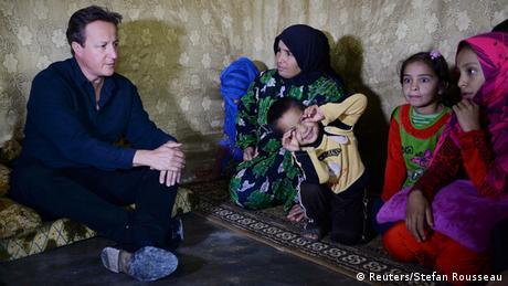 Premierminister David Cameron im Libanon Flüchtlinge aus Syrien