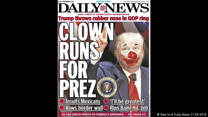 Titular del Daily News de Nueva York (17.09.2015)