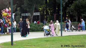 Bosnien Sarajevo Arabische Migranten Flüchtlinge