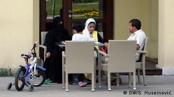 Bosnien Sarajevo Araber in Restaurants