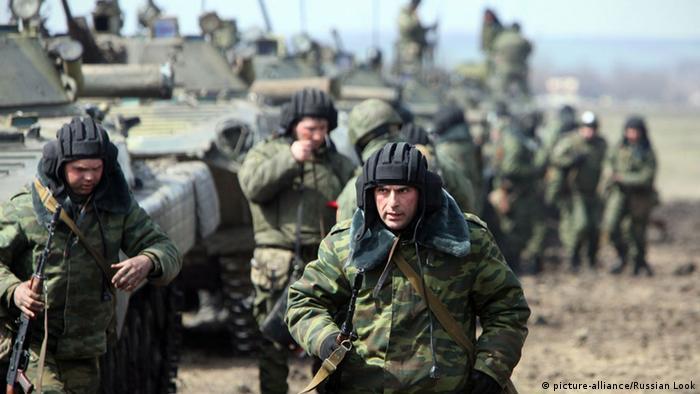 Российские солдаты на учениях (фото из архива)