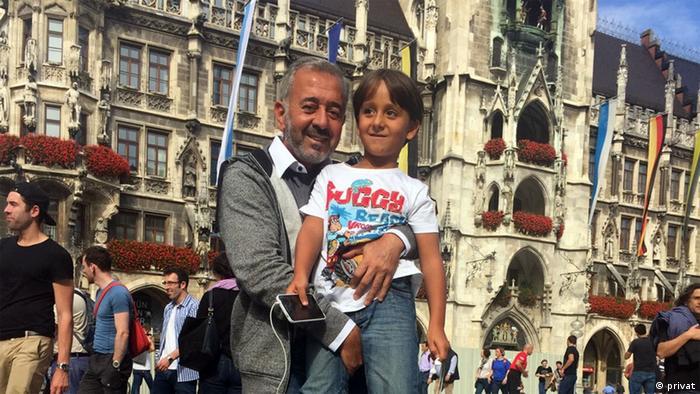 Абдель Мохсен с сыном Заиром в Мюнхене