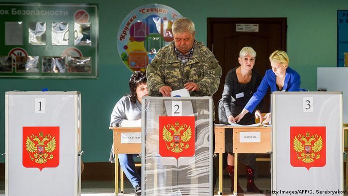 Wahllokal in der russischen Stadt Kostroma (Foto: Getty Images/AFP/D. Serebryakov)