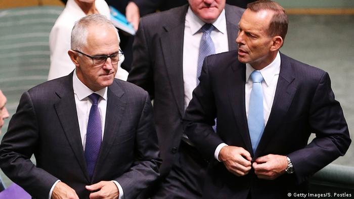 Australian Tony Abbott and Malcolm Turnbull