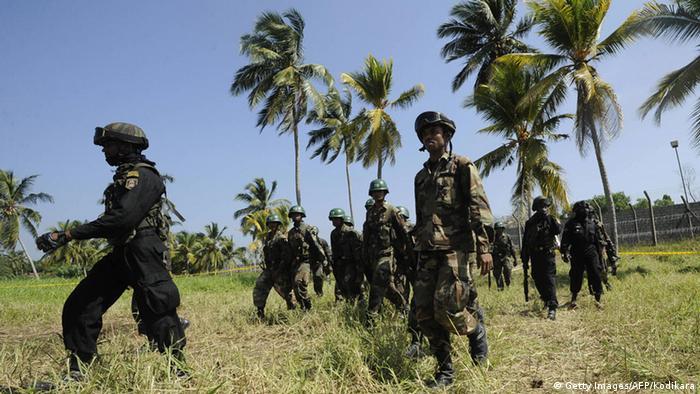 Sri Lanka Soldaten Bürgerkrieg Tamil Tigers