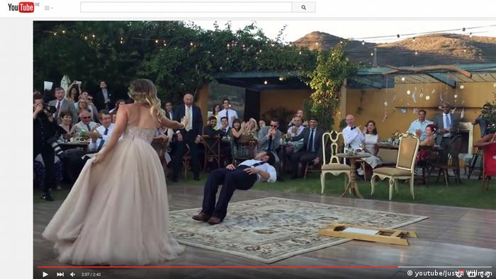 Screenshot - Youtube Bride puts a spell on her magician groom during first dance