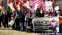 Washington - Proteste auf dem Lafayatte Park