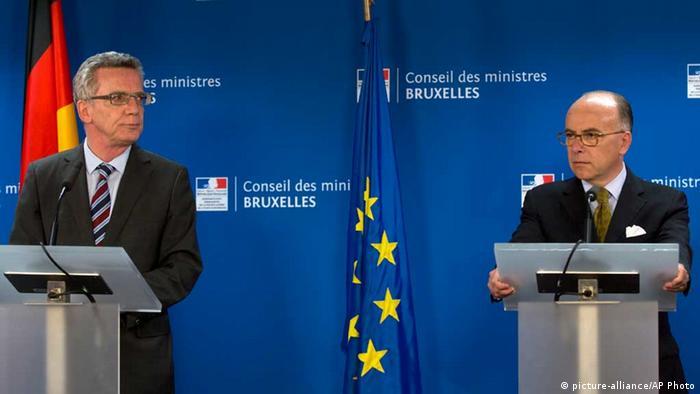 Thomas de Maiziere / Bernard Cazeneuve / Innenminister / Brüssel