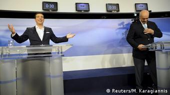 Griechenland - TV-Duell Tsipras gegen Meimarakis
