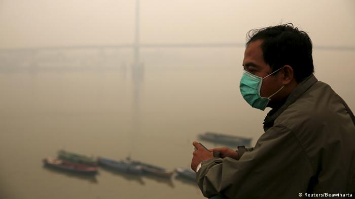 Indonesien Dunst Rauch Qualm Smog