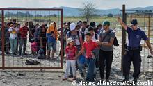Mazedonien Griechenland Flüchtlinge bei Gevgelija