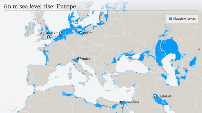 Infographic sea-level rise Europe. (Graphic: DW)