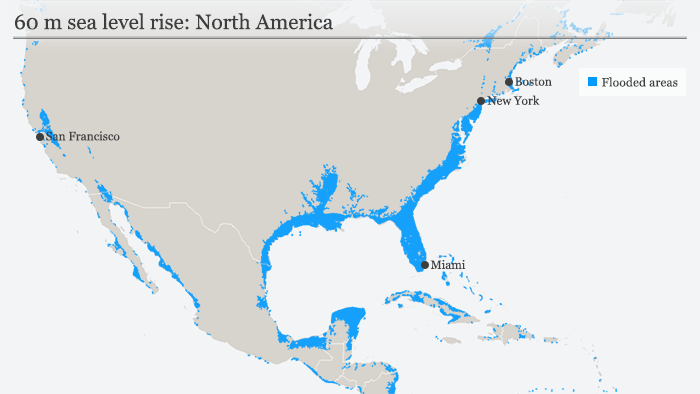 Worstcase scenario for sea level rise No more New York Berlin