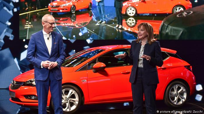 Karl-Thomas Neumann and Mary Barra (picture-alliance/dpa/U. Zucchi)