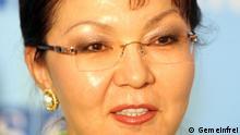 Dariga Nazarbayeva, member of Kazakh Parliament and the daughter of Kazakhstan President Nursultan Nazarbayev. Photo by Mikhail Evstafiev. Quelle: https://de.wikipedia.org/wiki/Dariga_Nasarbajewa#/media/File:Dariga_Nazarbayeva.jpg *** Ich, der Urheberrechtsinhaber dieses Werkes, veröffentliche es als gemeinfrei. Dies gilt weltweit. In manchen Staaten könnte dies rechtlich nicht möglich sein. Sofern dies der Fall ist: Ich gewähre jedem das bedingungslose Recht, dieses Werk für jedweden Zweck zu nutzen, es sei denn, Bedingungen sind gesetzlich erforderlich.