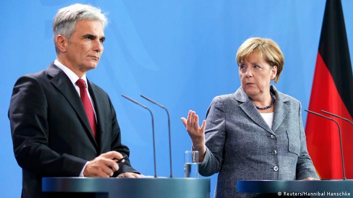 PK Pressekonferenz Berlin Deutschland Angela Merkel Österreich Werner Faymann Asylpolitik Europa Asyl Flüchtlinge