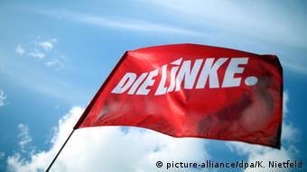 Флаг с логотипом Левой партии
