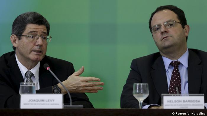 Brasilien Joaquim Levy & Nelson Barbosa PK in Brasilia