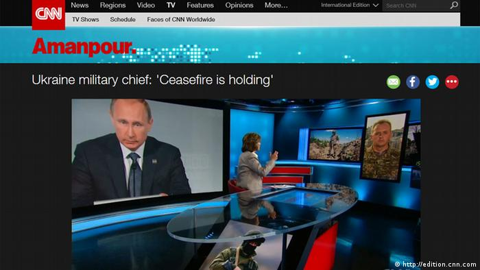 Screenshot CNN Video Ukraine Konflikt (http://edition.cnn.com)