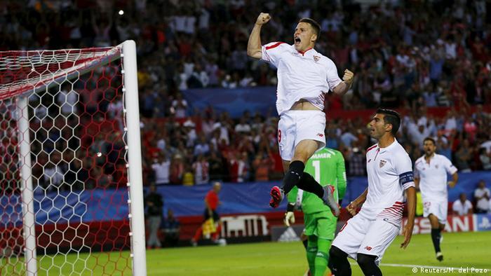 Champions League Sevilla gegen Borussia Moenchengladbach Gameiro
