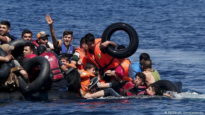 Griechenland Flüchtlinge bei Lesbos
