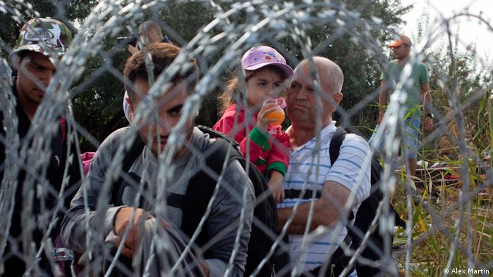 Refugees in Hungary Foto: Alex Martin