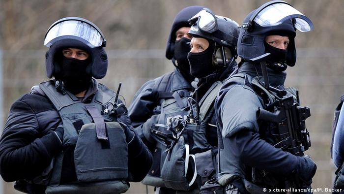 Police from a German SWAT unit