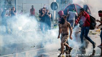 Ungarn Röszke Grenze Polizeieinsatz gegen Flüchtlinge