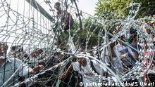 Ungarn Grenze Polizeieinsatz gegen Flüchtlinge