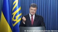Ukraine Präsident Petro Poroschenko Symbolbild Sanktionen gegen Russland