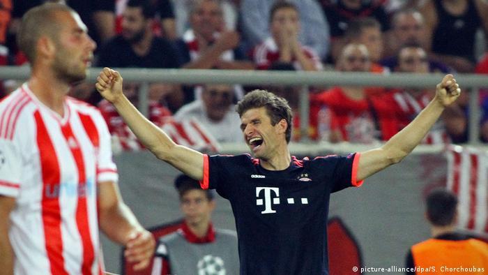 Champions League Olympiakos vs Bayern München Jubel Müller