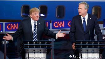Дональд Трамп и Джеб Буш