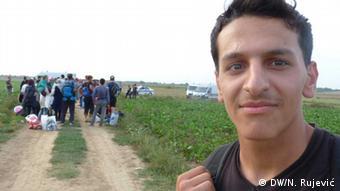 Die Flüchtlinge an der serbisch-kroatischen Grenze