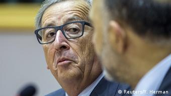 Belgien Jean Claude Juncker mit Pierre Moscovici im Europaparlament