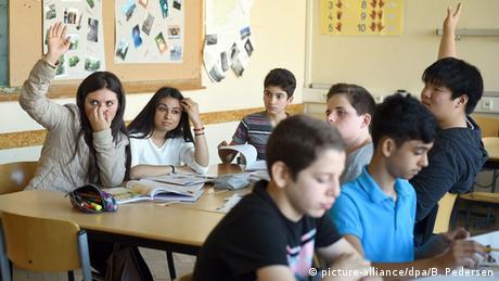 Klassenzimmer Willkommensklasse
