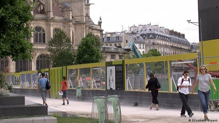 Les Halles, the old market district in downtown Paris, under redevelopment that includes new green spaces (Photo: Lisa Bryant)