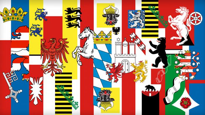 Гербы и флаги федеральных земель Германии