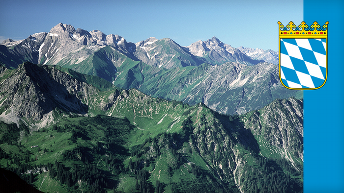 A view of the Bavarian Alps
