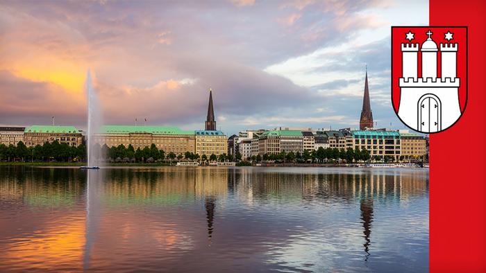 Град Хамбург с близо 2 милиона жители също има статут на провинция. Красивият град е разположен на река Елба, а пристанището му е вратата на Германия към света.