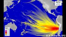 Tsunamisimulation vor der Chilenischen Küste für das Chile-Erdbeben am 16. September 2015, Pacific View (A. Babeyko, GFZ). Helmholtz-Zentrum Potsdam Deutsches GeoForschungsZentrum GFZ
