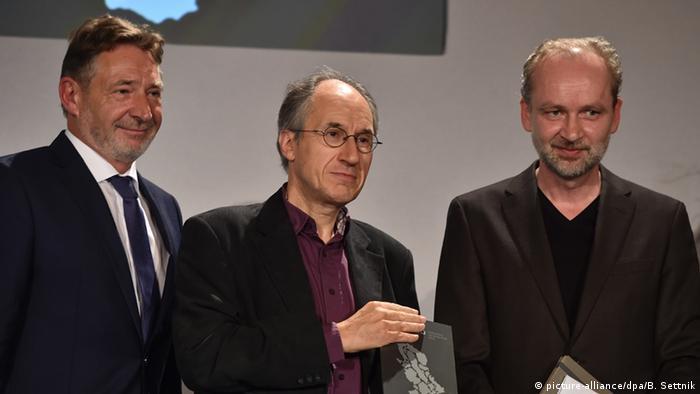 Potsdam Internationale Medienkonferenz M100 Gerard Biard, Jann Jakobs und Ferdinand von Schierach