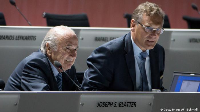 Schweiz Fifa Kongress - Joseph S. Blatter & Jerome Valcke