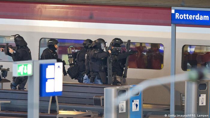 Niederlande Thalys Zug in Rotterdam