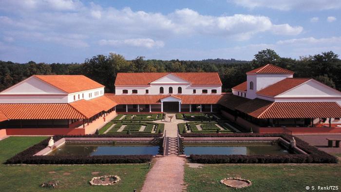Freilichtmuseum Römische Villa Borg in Perl-Borg EINSCHRÄNKUNG