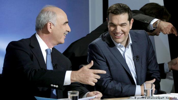 Griechenland Alexis Tsipras und Vangelis Meimarakis TV-Debatte
