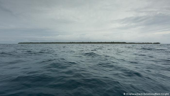 Ontong Java island from the open sea (Photo: Beni Knight)