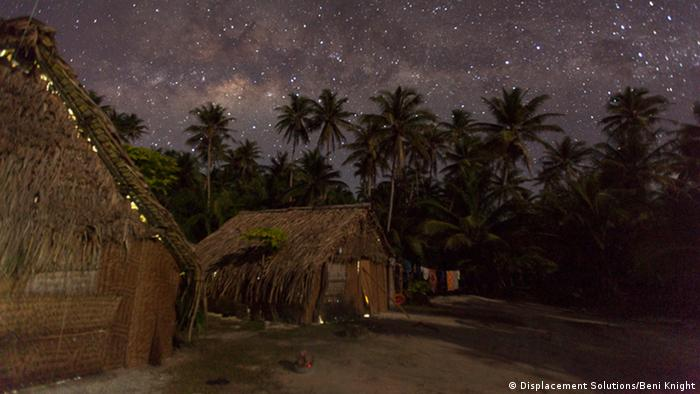Traditional huts on Ontong Java with starry night sky (Photo: Beni Knight)